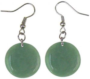 Disc Stone Earrings