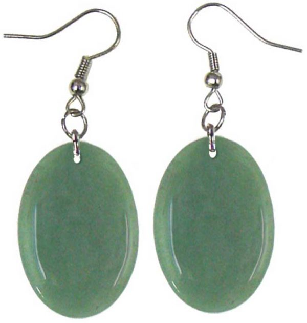 Oval Stone Earrings
