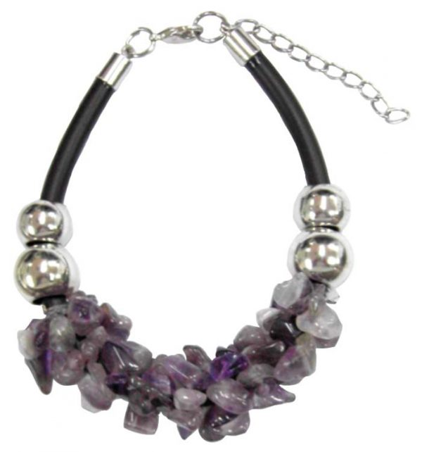 Beads and Chip Stone w/ Cord Bracelet