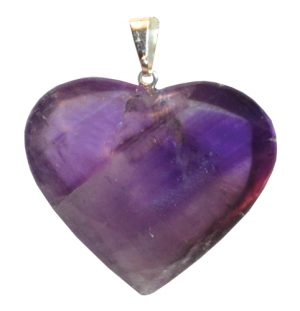 Smooth Amethyst-Heart