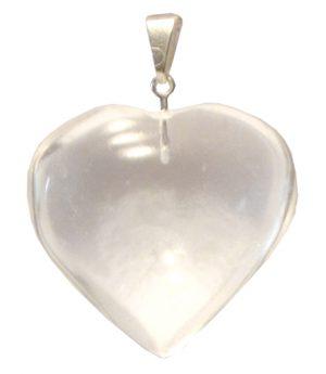 Smooth Crystal Quartz-Heart