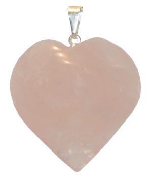 Smooth Rose Quartz-Heart