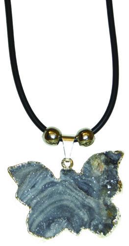 Nat. Agate Druze Butterfly