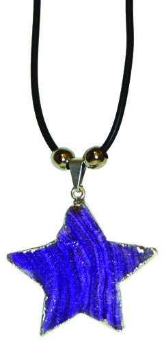 Dyed Agate Druze Star