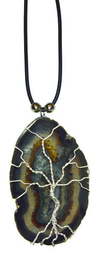 Agate Slabe w/ Wire Tree Wrap