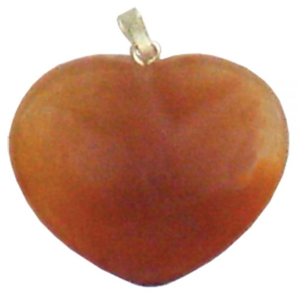 Pendant - Red Agate Heart
