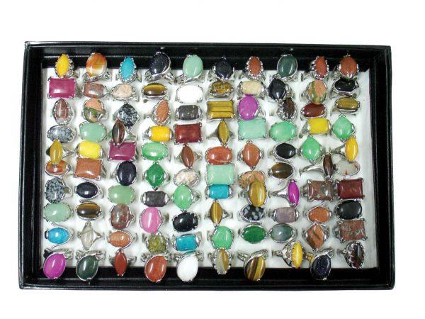 Mixed Lg. Gemstone Rings