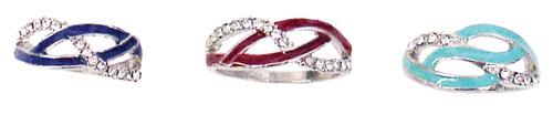 Diamond Weave Rings