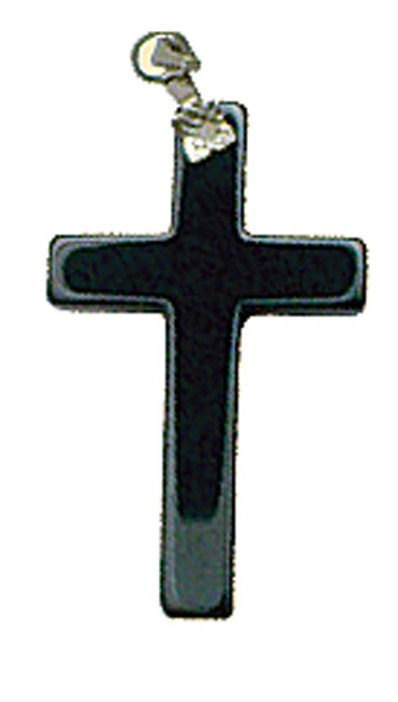 Pendant- Hematite Cross 40 mm