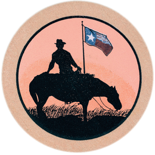 Rider and Texas Flag