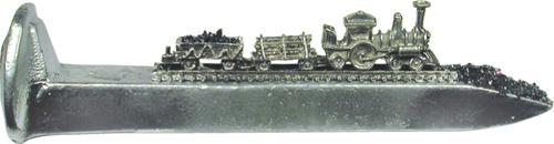 "Train Spikes 6 1/2"" Silver W/Corborundum"