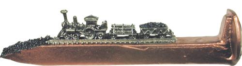 """Train Spikes 6 1/2"""" Copper W/Corborundum"""