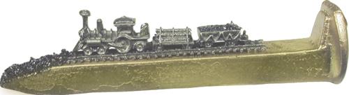 "Train Spikes 6 1/2"" Gold W/Corborundum"