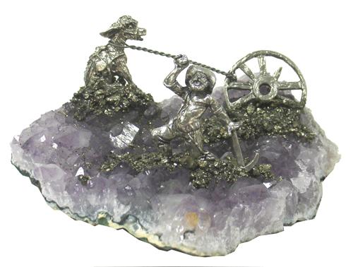 Gold Rush Miner/Burro/Wagon Wheel
