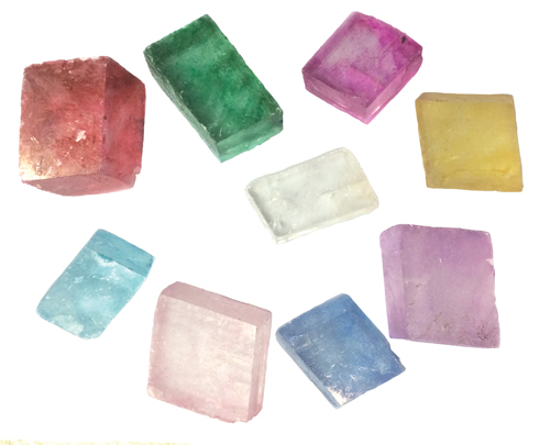 Natural Calcite & Dyed Calcite