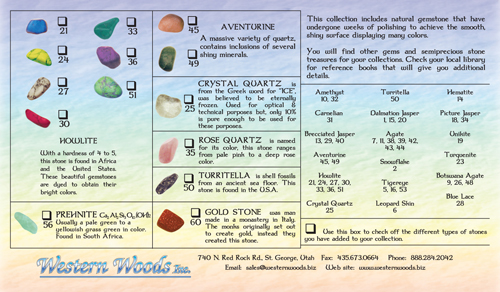 C-3 Tumbled Stone Description Cards