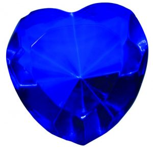Blue Glass Heart Diamond