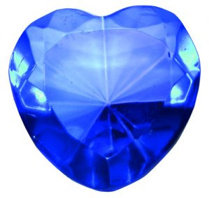 Light Blue Glass Heart Diamond