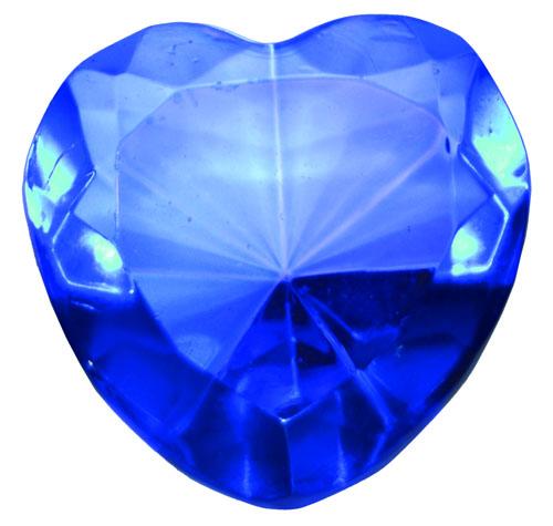 Light Blue Glass Heart Diamond
