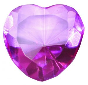Pink Glass Heart Diamond