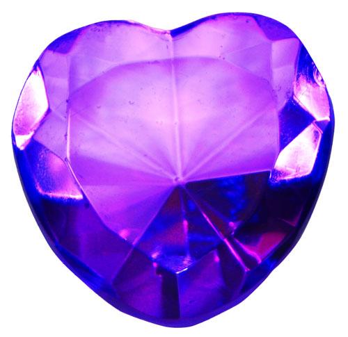 Purple Glass Heart Diamond