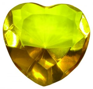 Yellow Glass Heart Diamond